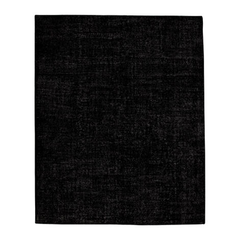 Vintage Black Rug ,  , large
