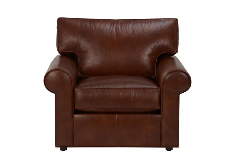 Retreat Roll-Arm Leather Chair ,  , large_gray