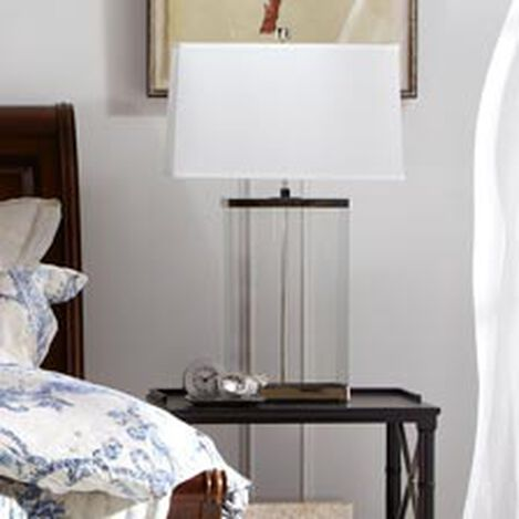Rectangular Glass Table Lamp ,  , hover_image