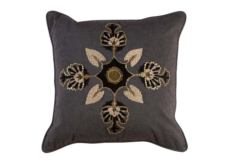 Modern Gray Medallion Pillow ,  , large_gray