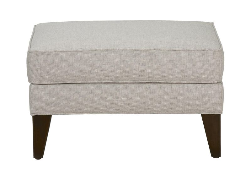 Emerson Ottoman, Quick Ship , Hailey Natural (Q1031), solid texture , large_gray