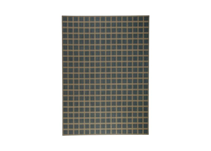 Scottish Block Serged Rug ,  , large_gray