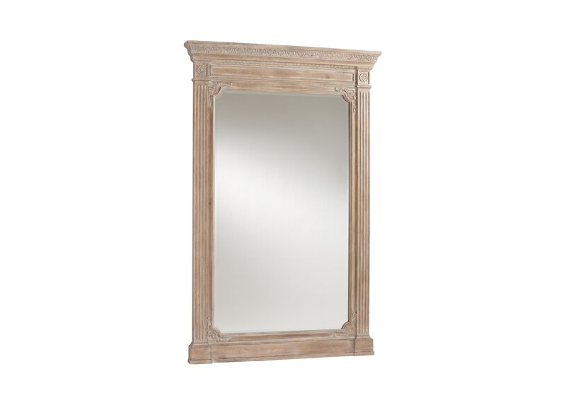 Aged Oak Madeleine Trumeau Floor Mirror ,  , large_gray