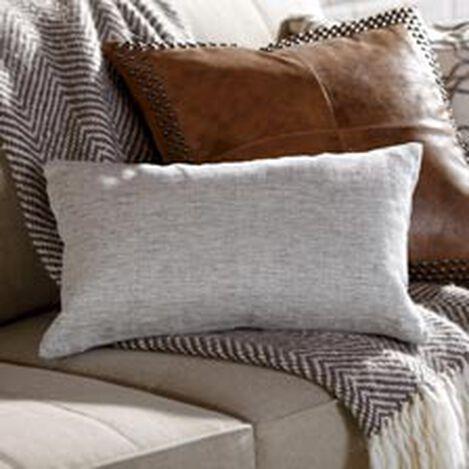 "Linen Herringbone Pillow 12"" x 20"" ,  , hover_image"