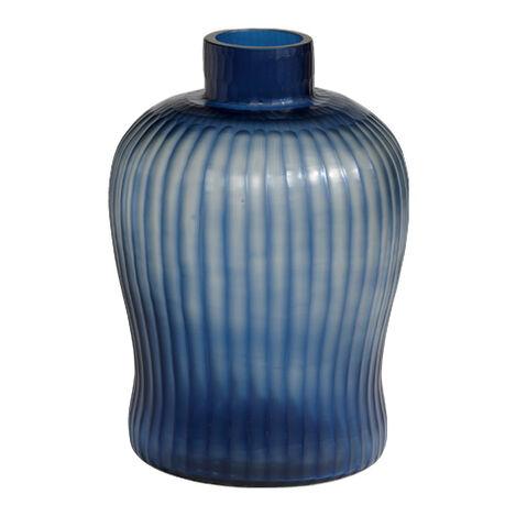 Cut Brayton Indigo Vase ,  , large