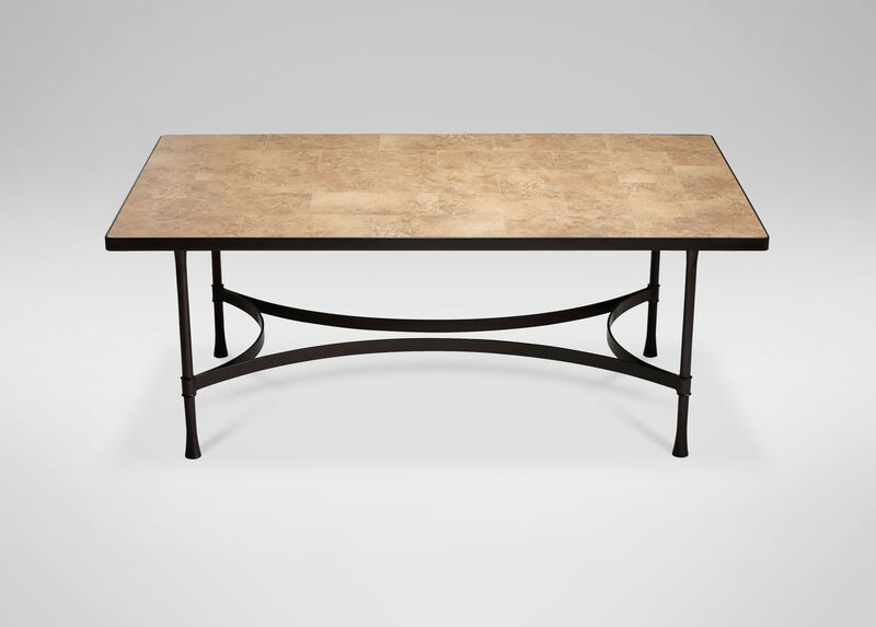 Biscayne Rectangular Dining Table with Light Porcelain Top ,  , large_gray