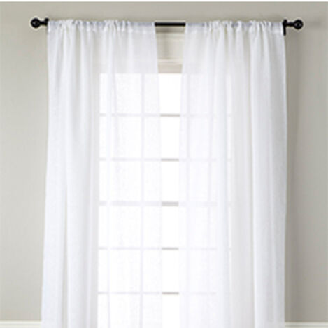 White Linen Sheer Rod-Pocket Panel ,  , hover_image
