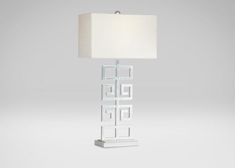 Greek Key Table Lamp ,  , large_gray