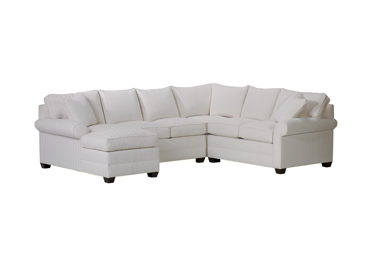 Bennett roll arm sectional with chaise sectionals for Ethan allen sectional sofa with chaise