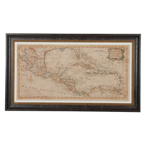Elongated West Indies Map ,  , large