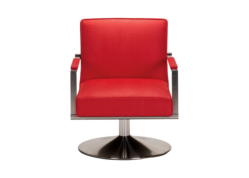 Animator's Chair, Quick Ship , Cool Red (D1900), microfiber , large_gray