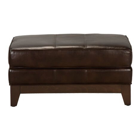Arcata Leather Ottoman, Quick Ship ,  , large