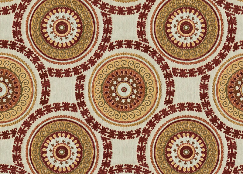 Suzani Red Fabric by the Yard ,  , large_gray