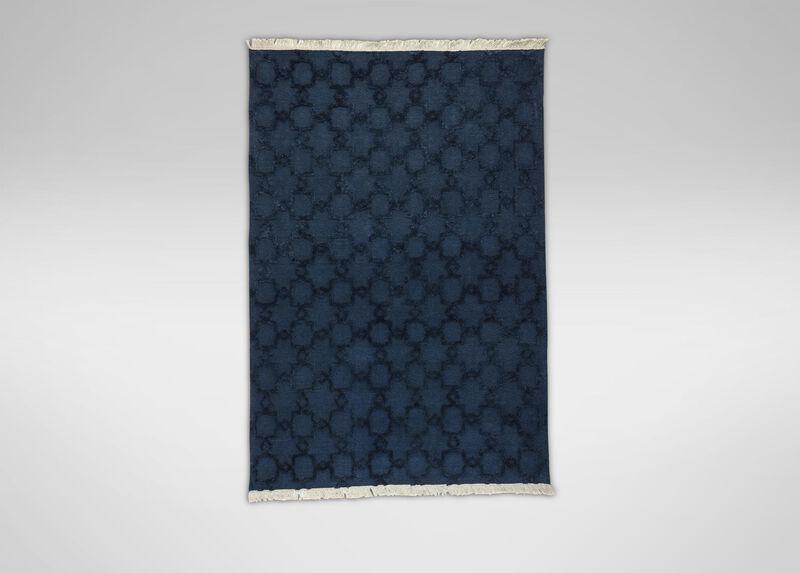 Lattice Soumak Rug, Navy ,  , large_gray
