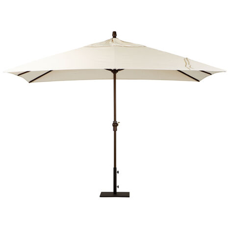Ivory Rectangular Market Umbrella ,  , large