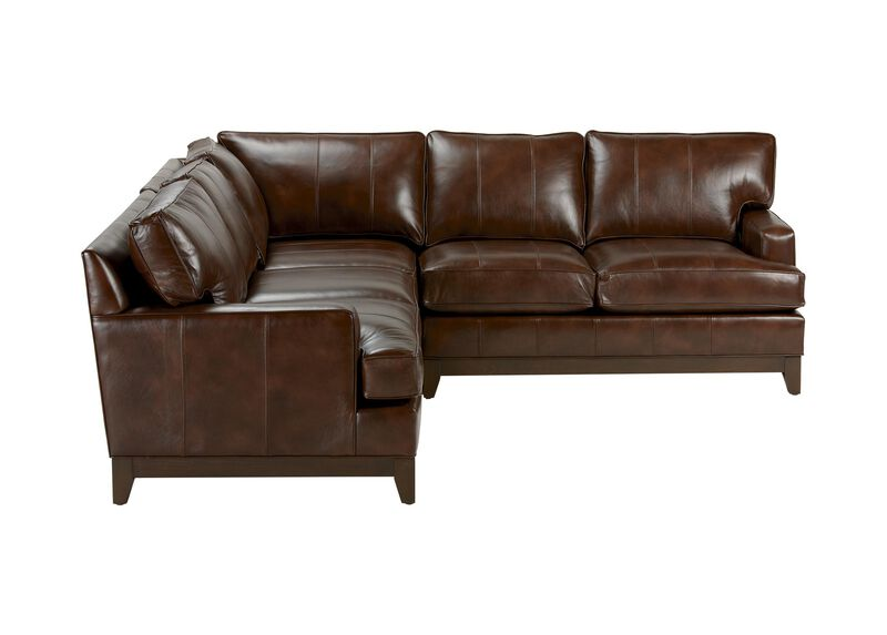 Arcata Three Piece Leather Sectional, Quick Ship ,  , large_gray