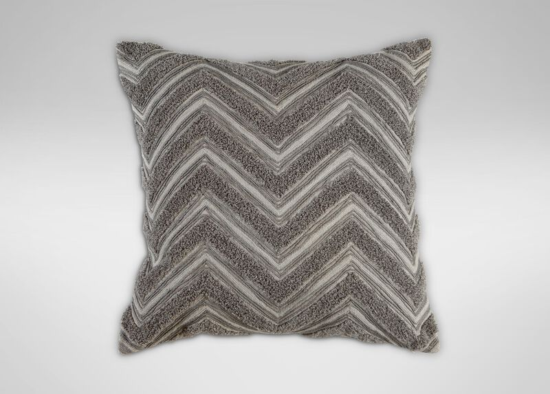 Modern Gray Bouclé Chevron Pillow ,  , large_gray