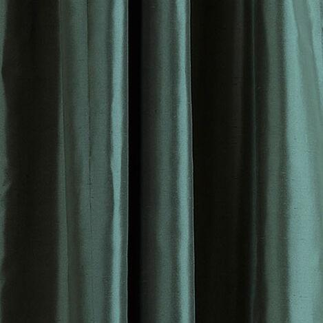 Teal Satin Dupioni Fabric ,  , large