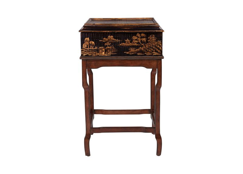 Lianne Chinoiserie Box on Stand ,  , large_gray