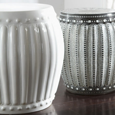 White Drum Table ,  , hover_image