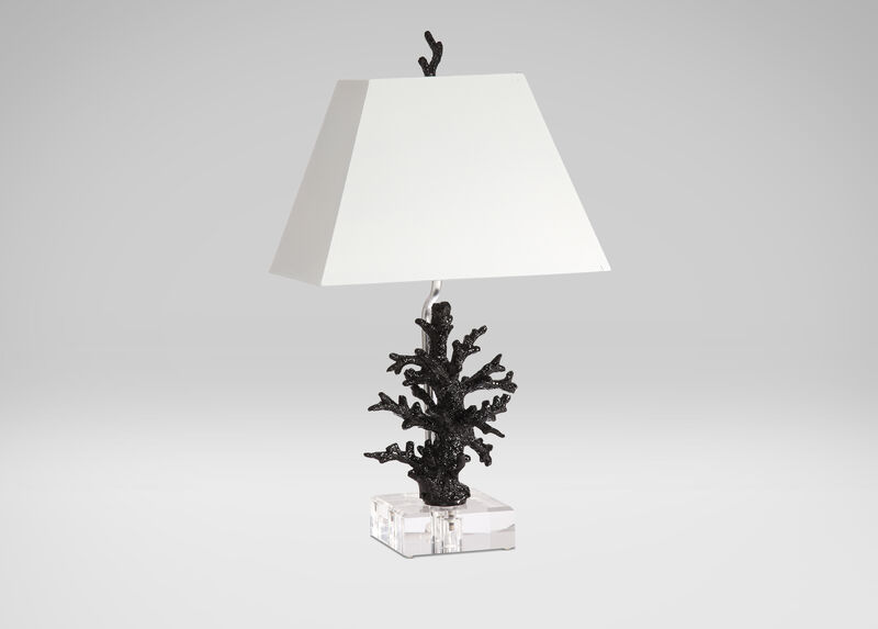 Black Gloss Coral Accent Lamp ,  , large_gray