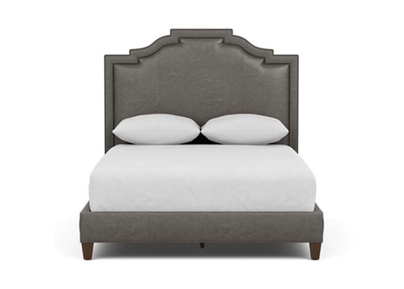 Quinn Leather Bed ,  , large_gray