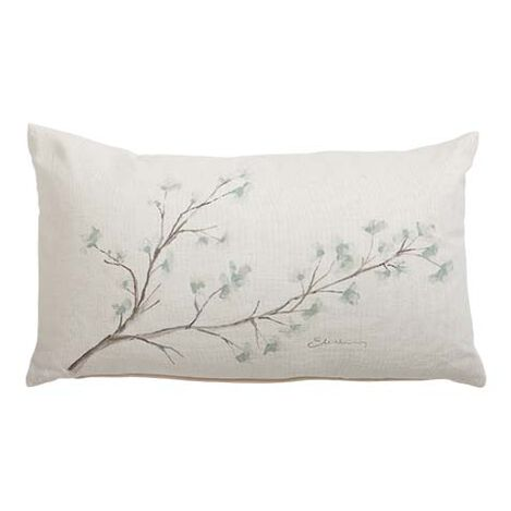 Hand-Painted Mineral Blossom Pillow ,  , large