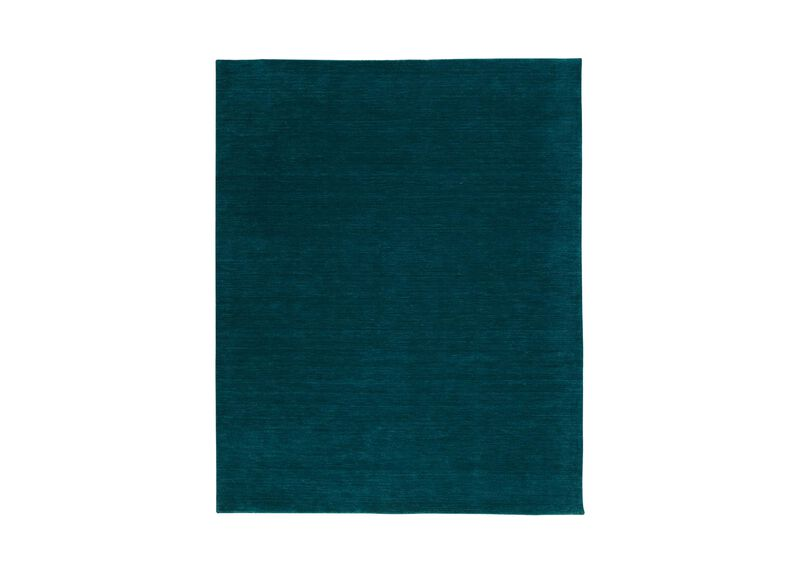 Loomed Wool Rug, Turquoise ,  , large_gray