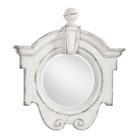 Antique White Gisele Mirror ,  , large