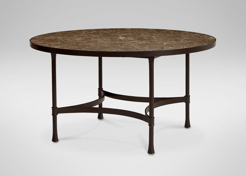 Biscayne Round Dining Table with Dark Porcelain Top ,  , large_gray