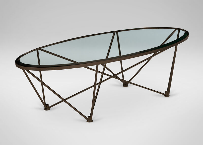 Kestral Oval Coffee Table, Vintage Steel at Ethan Allen in Ormond Beach, FL | Tuggl