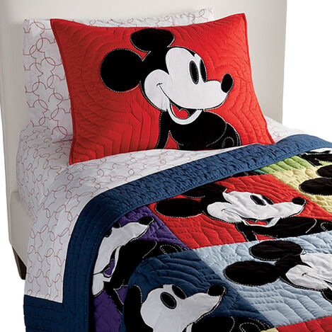 Color Block Mickey Quilt and Sham ,  , large