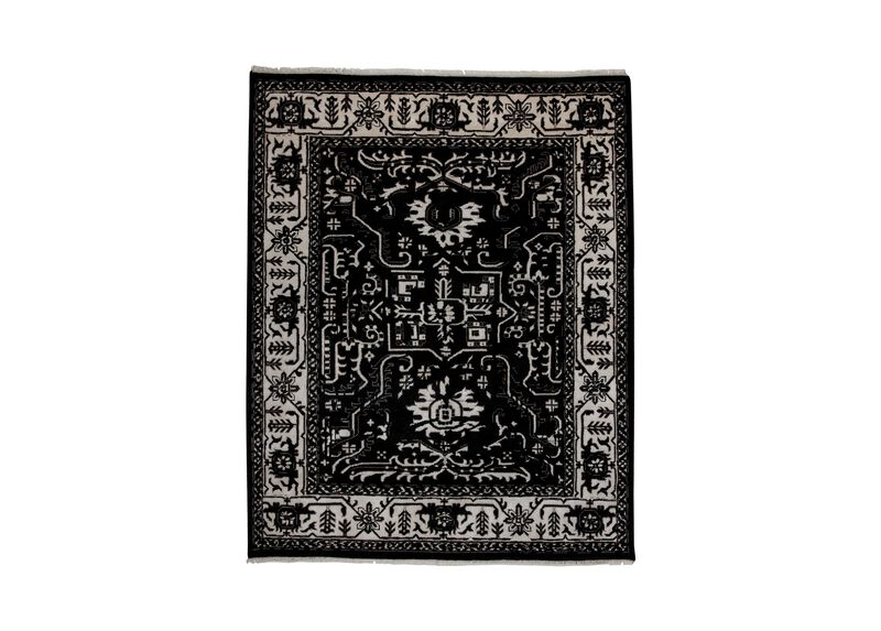 Heriz Deconstructed Rug, Black/Ivory at Ethan Allen in Ormond Beach, FL | Tuggl