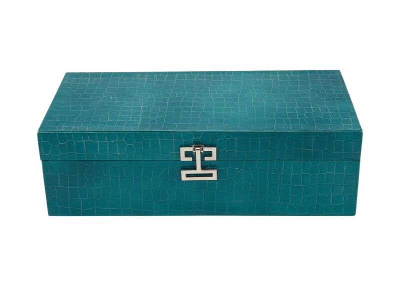 Long Turquoise Croc Box ,  , large_gray