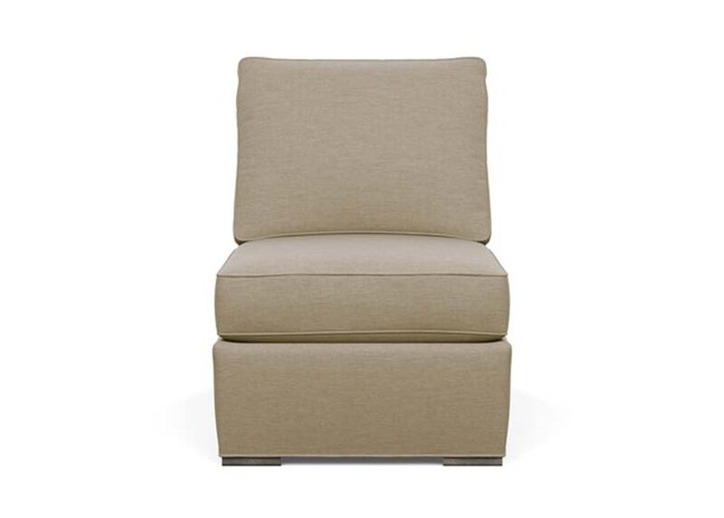 Meeting Place Armless Chair , Zest Linen (D1031), strie texture , large_gray