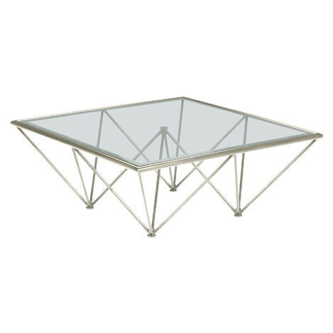 Kestral Square Coffee Table, Polished Steel ,  , large