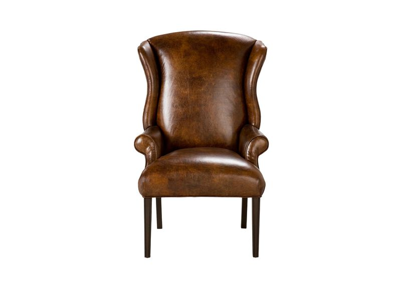 Jayden Leather Host Chair ,  , large_gray