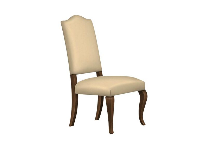 Hadley Cabriole-Leg Leather Side Chair ,  , large_gray