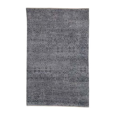 Ikat Rug, Gray/Ivory ,  , large