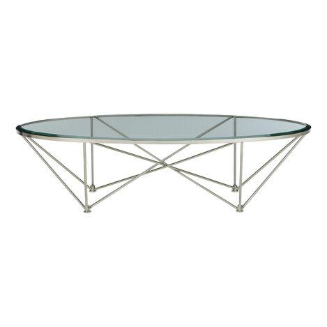 Kestral Oval Coffee Table, Polished Steel ,  , large