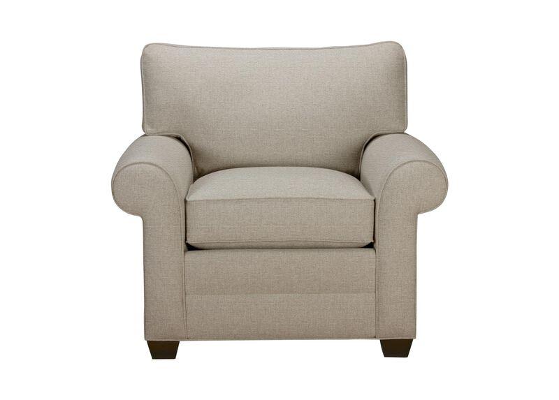 Bennett Roll-Arm Chair, Quick Ship , Palmer Pearl (Q3039), chenille , large_gray