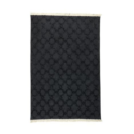 Lattice Soumak Rug, Black ,  , large