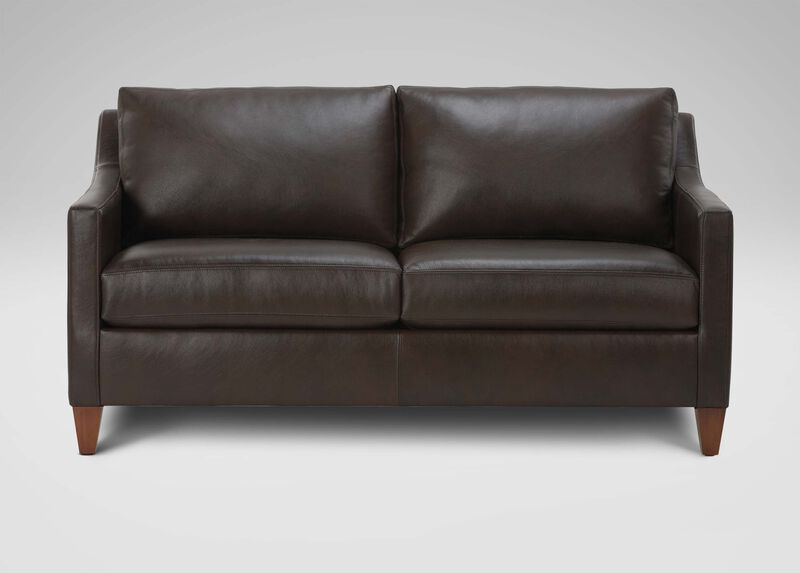 Monterey Leather Sofa ,  , large_gray
