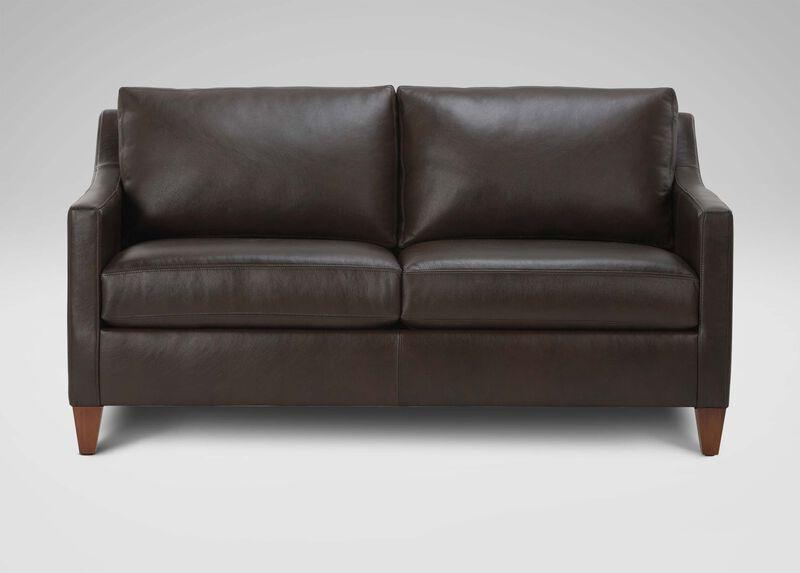 Monterey leather sofa sofas loveseats for Ethan allen hudson sofa
