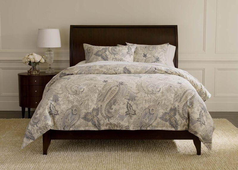 Sydney Paisley Duvet Cover and Shams ,  , large_gray