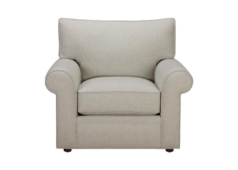 Retreat Roll-Arm Chair, Quick Ship , Hailey Natural (Q1031), solid texture , large_gray