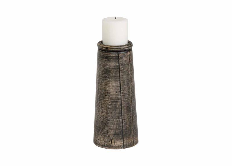 Large Dillon Black Candleholder ,  , large_gray