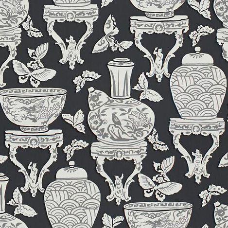 Ginger Jar Black Fabric ,  , large