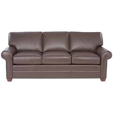 Bennett Roll-Arm Leather Sofa ,  , large