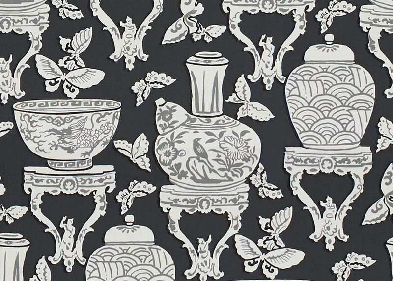 Ginger Jar Black Fabric by the Yard ,  , large_gray